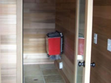 Interior Custom Cedar Sauna House